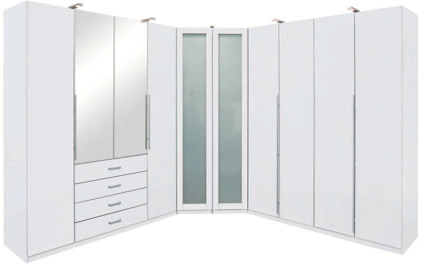 Rauch Elan B Folding Door Wardrobe - Glass Framed Doors with Starter Units and Extension Units