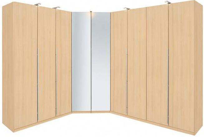 Rauch Elan B Folding Door Wardrobe - Mirrored Doors with Starter Units and Extension Units