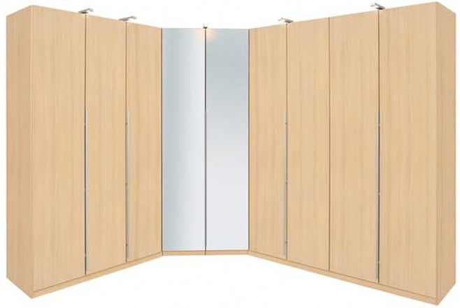 Rauch Elan B Hinged Door Wardrobe - Mirrored Doors with Starter Units and Extension Units