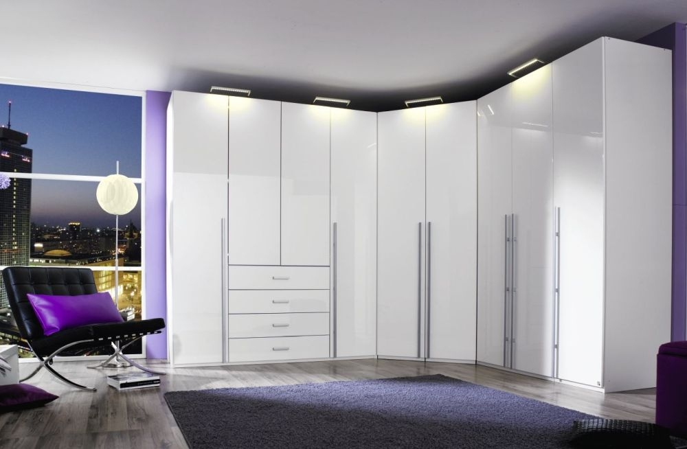 Rauch Elan H Folding Wardrobe with High Polish Front and Aluminium Handle Bar - Panorama Appearance Starter Unit