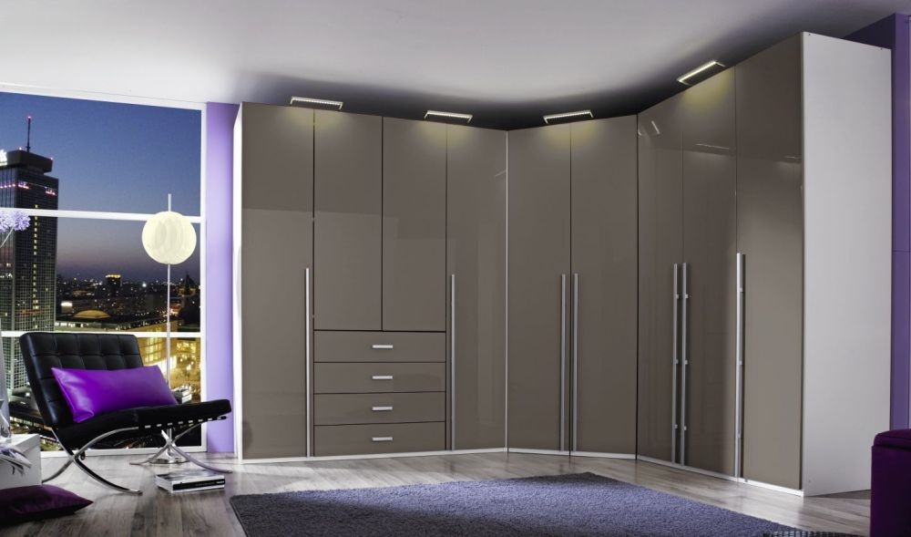 Rauch Elan H Wardrobe with High Polish Front and Aluminium Handle Bar - Starter Unit and Extension Unit
