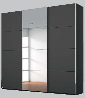 Rauch Elaya 3 Door Sliding Wardrobe in Graphite - W 203cm