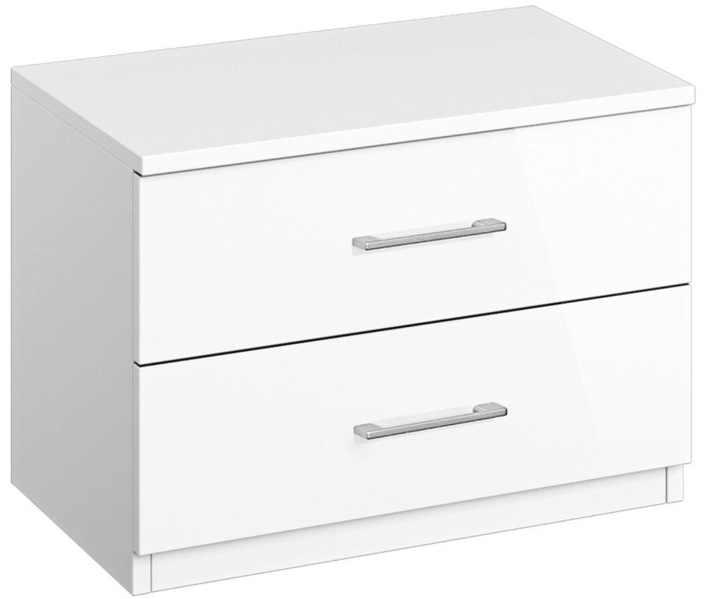 Rauch Ellwangen 1 Door 5 Drawer Combi Chest in White