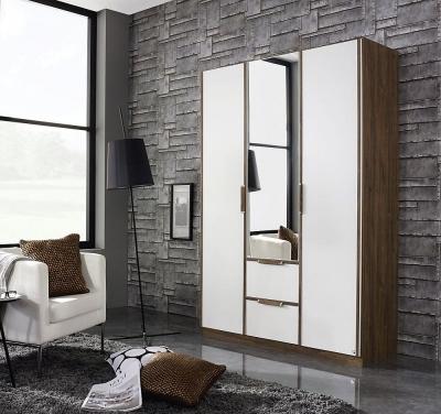 Rauch Essensa 3 Door Combi Wardrobe in Stirling Oak and White - W 136cm