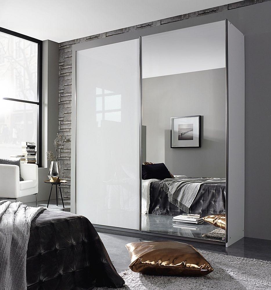 Rauch Essensa 2 Door Sliding Wardrobe in White - W 181cm