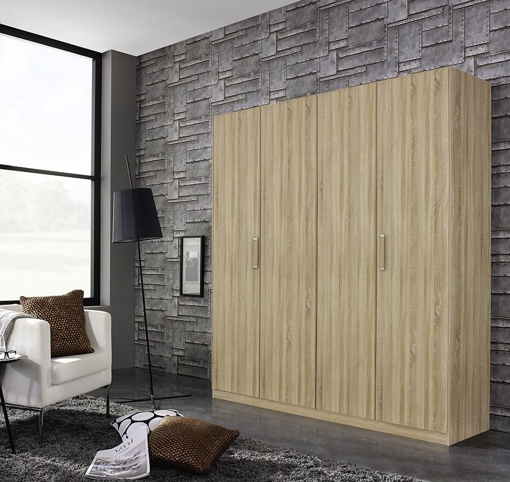 Rauch Essensa 4 Door Wardrobe in Oak - W 181cm