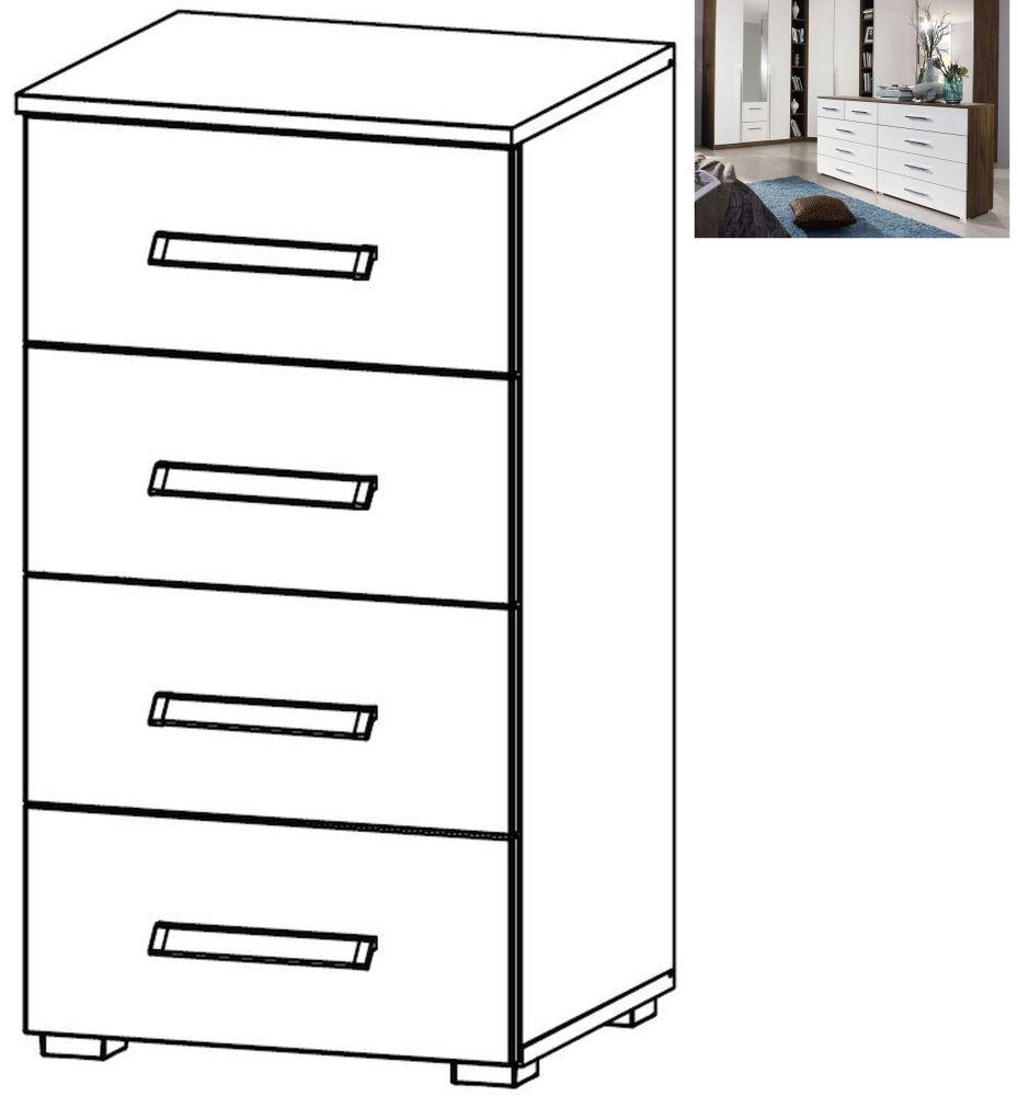 Rauch Essensa 4 Drawer Chest in Stirling Oak and Alpine White - W 47cm