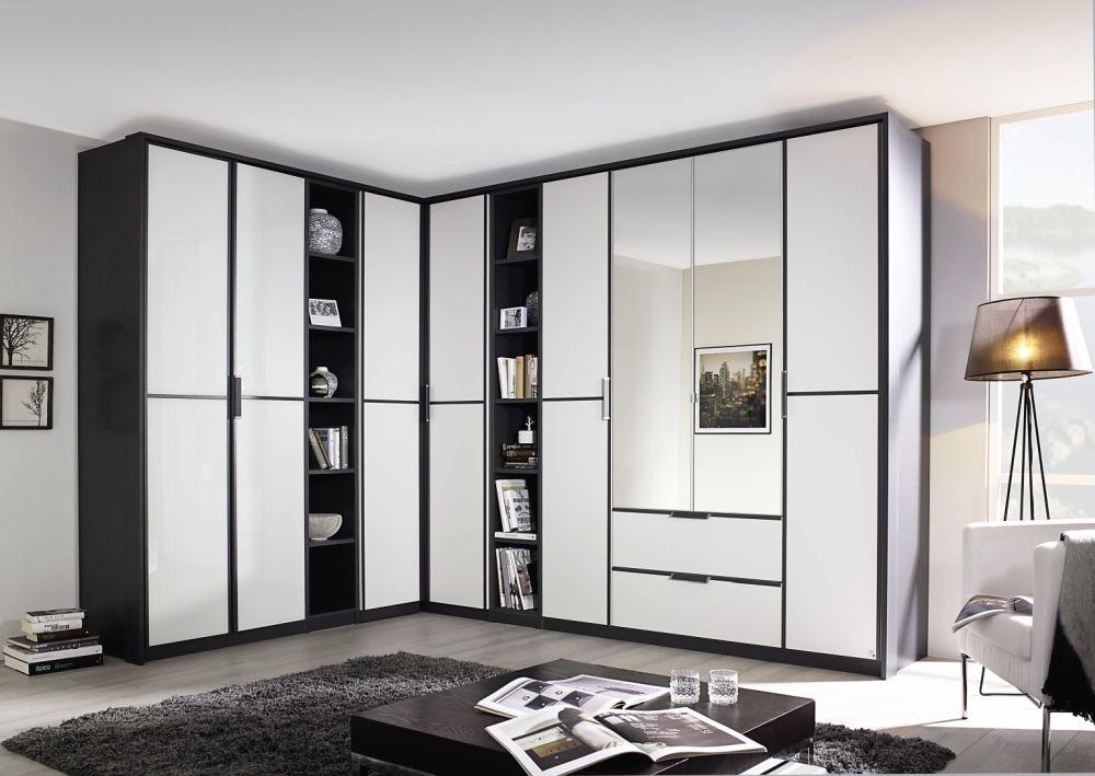 buy rauch essensa l shaped folding wardrobe in metallic. Black Bedroom Furniture Sets. Home Design Ideas