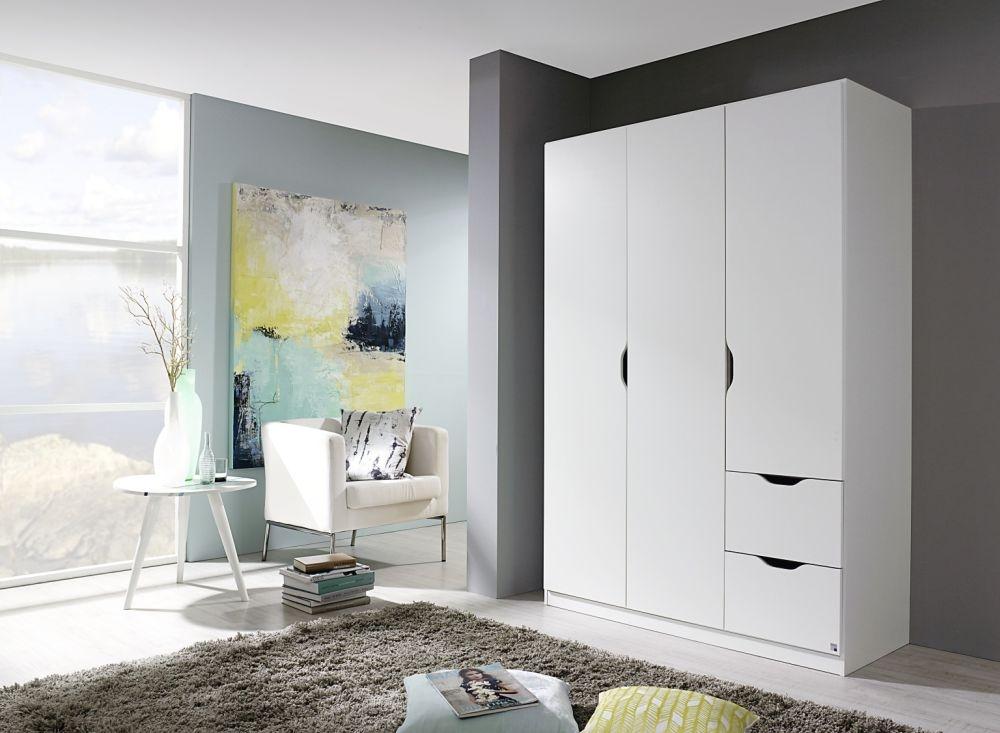 Rauch Freising Alpine White 3 Door 2 Drawer Combi Wardrobe - W 136cm