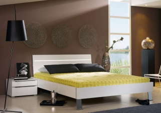 Rauch Fresh Line Bed with Chrome Feet