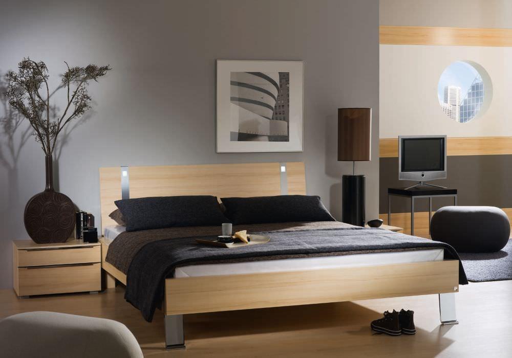 Rauch Fresh Line Bed with Aluminium Feet