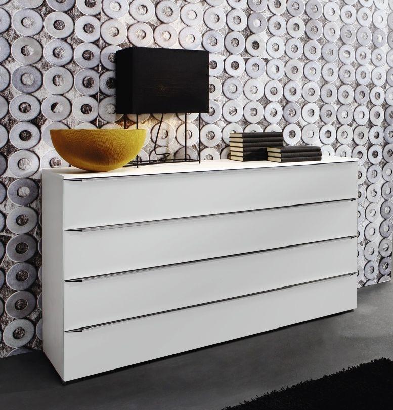 Rauch Fresh Line Alpine White 1 Door 4 Drawer Cupboard with Handle Bar