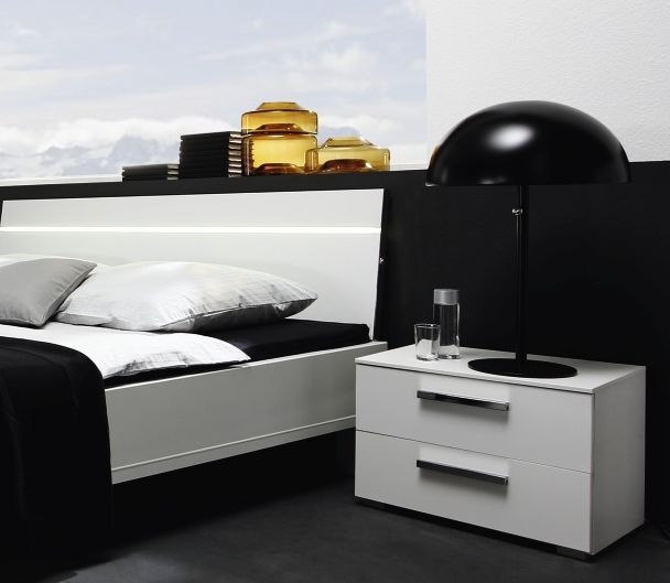 Rauch Fresh Line Alpine White Comfort Height 4 Drawer Bedside Cabinet - W 57cm
