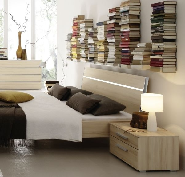 Rauch Fresh Line Natural Beech Comfort Height 2 Drawer Bedside Cabinet - W 48cm
