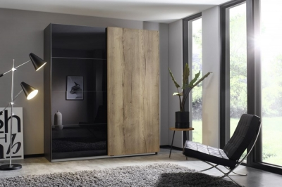 Rauch Halifax Sliding Wardrobe with Glass Front
