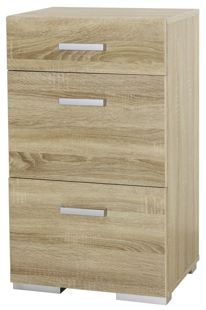 Rauch Harvard Sonoma Oak Bedside Cabinet - 3 Drawer