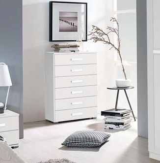 Rauch Herne Alpine White Chest of Drawer - 4+2 Drawer