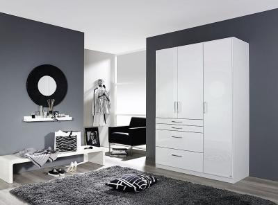 Rauch Homburg 3 Door Wardrobe in White - W 136cm