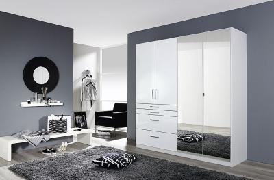 Rauch Homburg 4 Door Combi Wardrobe in White - W 181cm