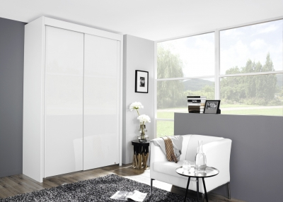Rauch Imperial 2 Door Sliding Wardrobe in White - W 151cm