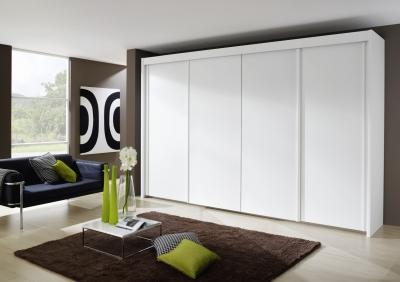 Rauch Imperial 4 Door Sliding Wardrobe in White - W 350cm