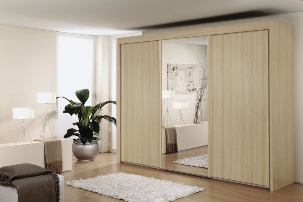 Rauch Imperial Natural Beech 3 Door Sliding Wardrobe W 225cm