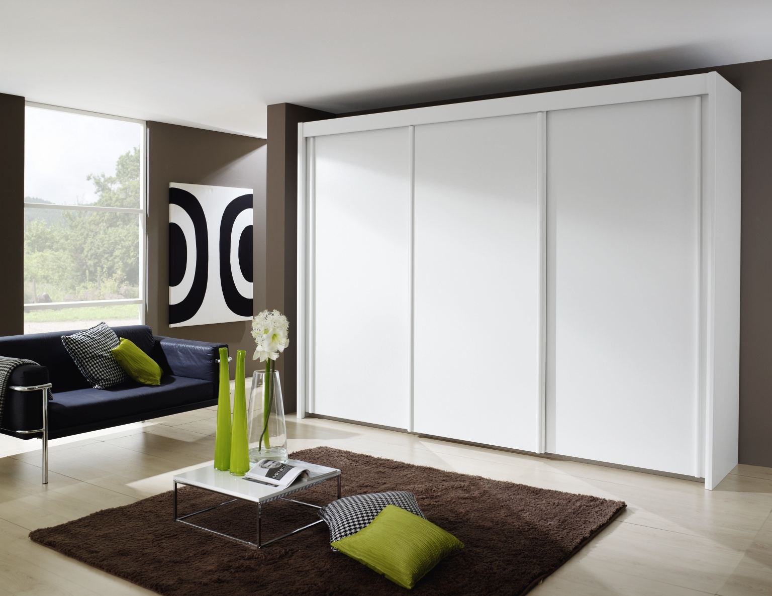Rauch Imperial 3 Door Sliding Wardrobe in White - W 280cm