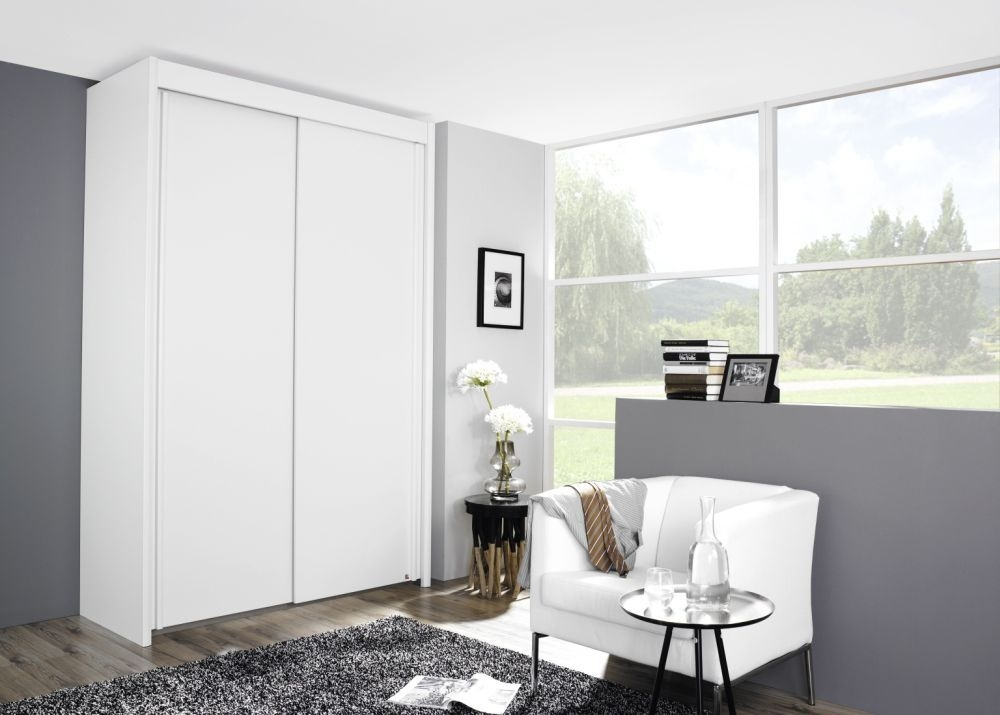 Rauch Imperial 2 Door Sliding Wardrobe in Alpine White - W 151cm