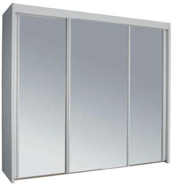 Rauch Imperial 3 Mirror Door Sliding Wardrobe in Alpine White - W 225cm