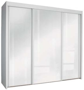 Rauch Imperial Alpine White 3 Door Sliding Wardrobe with High Polish White Front W 300cm