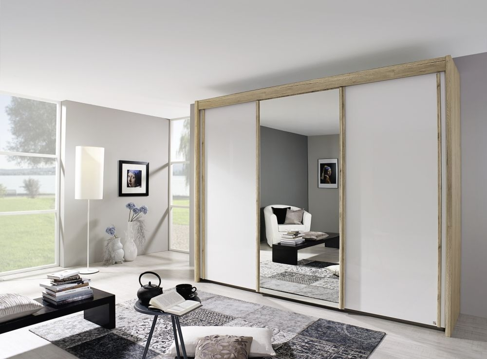 Rauch Imperial Sliding Wardrobe - Front with High Polish and Mirror