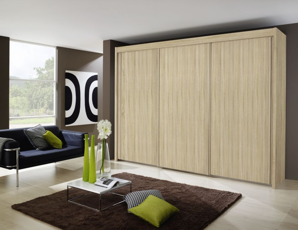 Rauch Imperial Sliding Wardrobe - Front with Wooden Decor