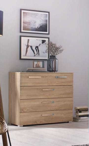 Rauch Kajus 3 Drawer Bedside Cabinet in Oak