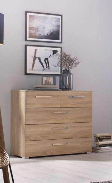 Rauch Kajus Sonoma Oak Chest of Drawer - 3+2 Drawer