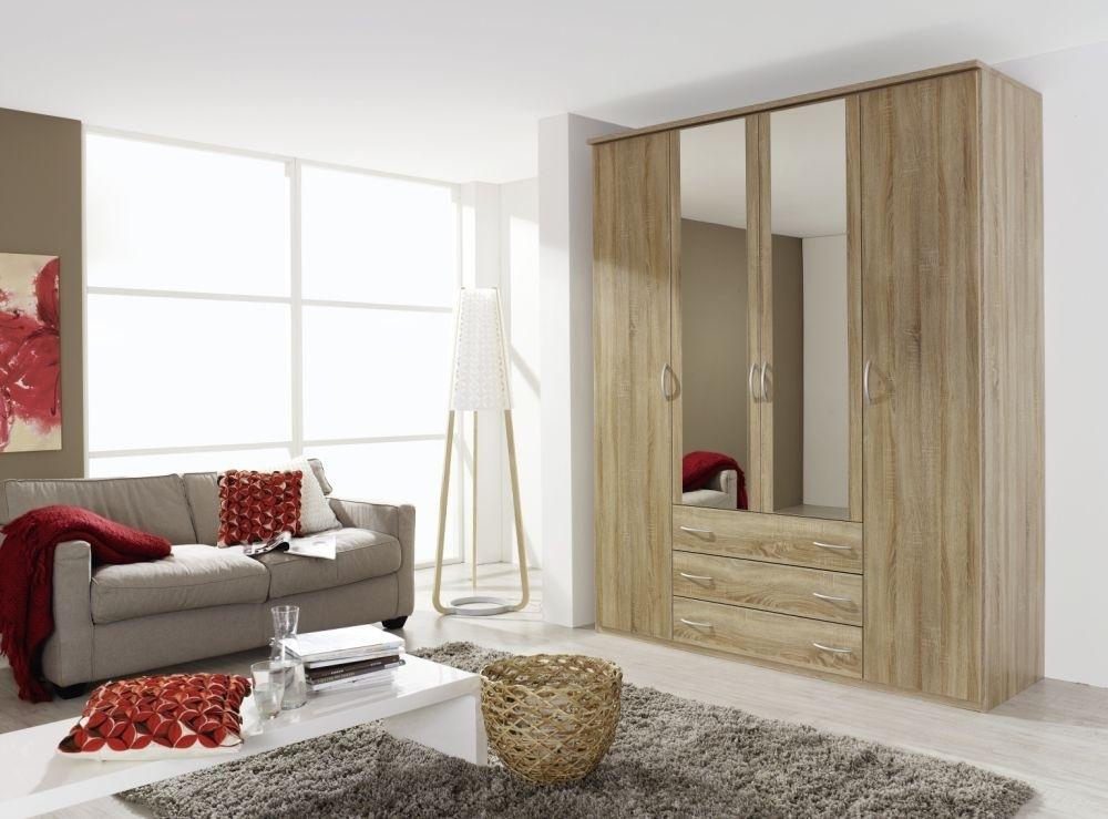 Rauch Kent 4 Door Combi Wardrobe in Oak - W 181cm