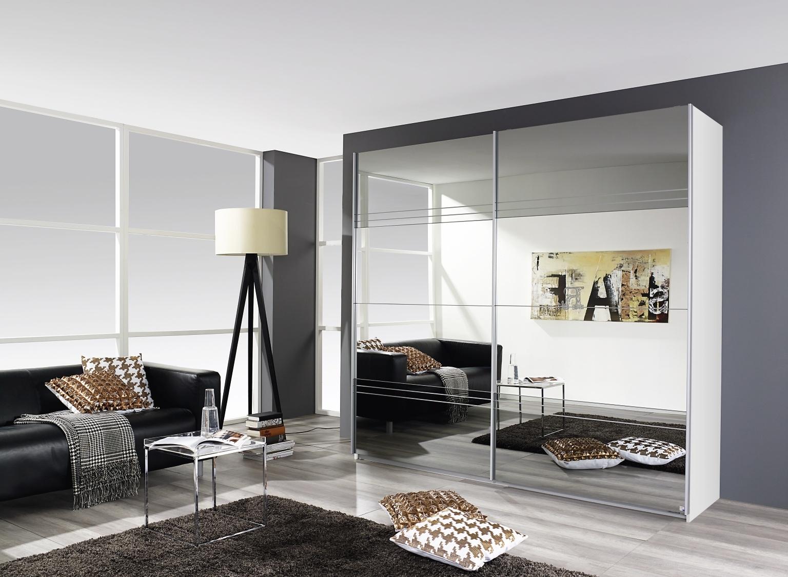 Rauch Koblenz 2 Door All Mirror Sliding Wardrobe in White - W 181cm