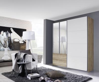 Rauch Kombino Combi Wardrobe with Sliding Door in Decor Color