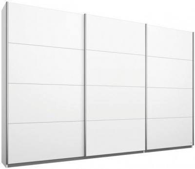 Rauch Kulmbach 3 Door Sliding Wardrobe in Alpine White with Aluminium Handle Strips - W 271cm