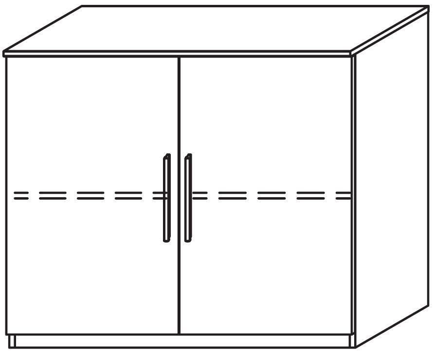 Rauch Marl 2 Door High Polish Front Cupboard with Aluminium Handle