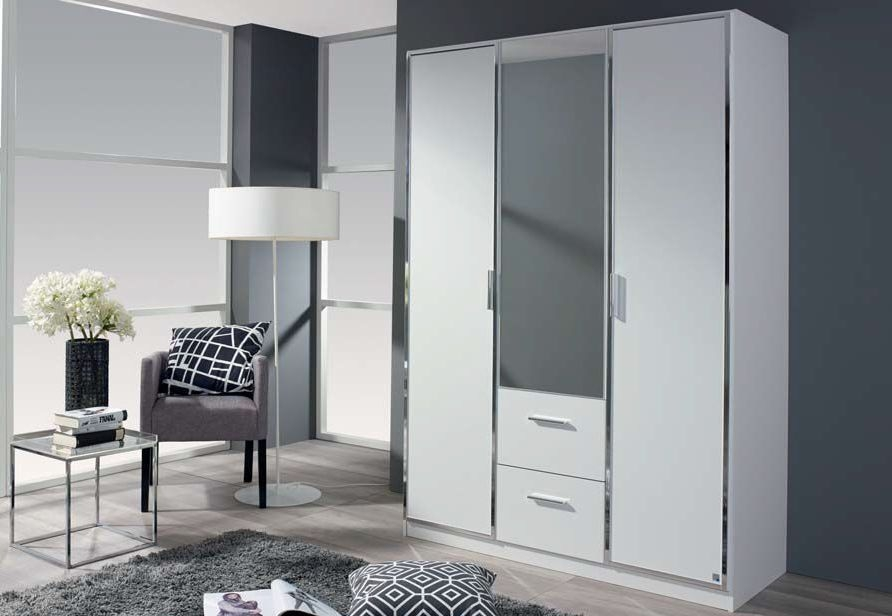 Rauch Marl 3 Door Combi Wardrobe in White - W 136cm