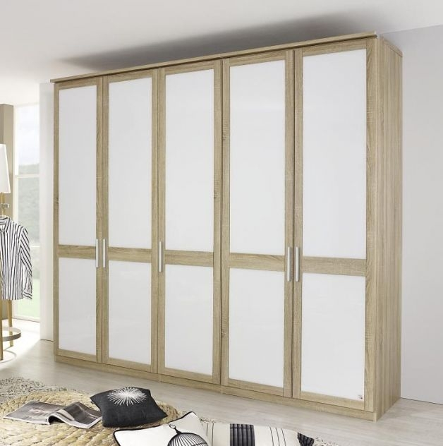 Rauch Master Range Front 6 Folding Wardrobe with Carcase Color Inlay Panel and Trims - Deep 64cm