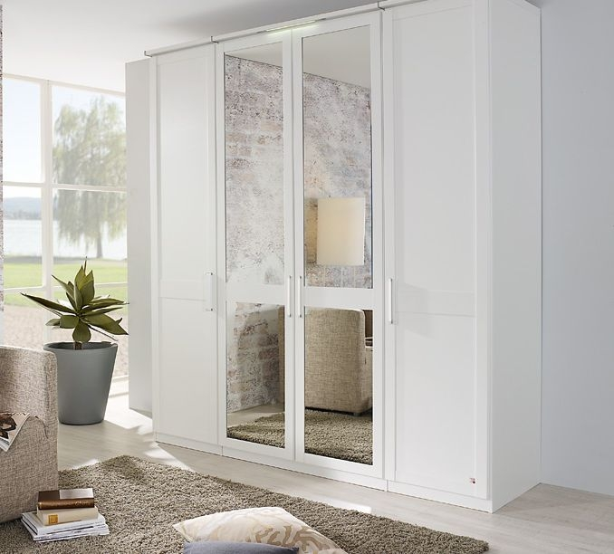 Rauch Master Range Front 6 Wardrobe with Carcase Color Inlay Panel and Trims - Deep 45cm