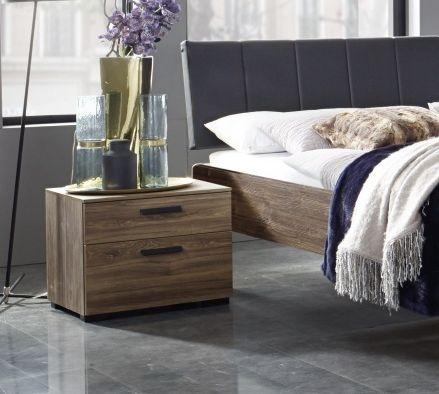 Rauch Mavi Base 2 Drawer Relax Bedside Cabinet in Stirling Oak