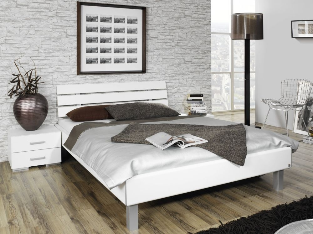 Rauch Mavi Base 4ft Small Double 3 Panel Bed in Alpine White  - 120cm x 190cm