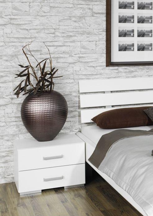 Rauch Mavi Base Alpine White 2 Drawer Bedside Cabinet - W 40cm