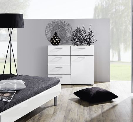 Rauch Mavi Base Alpine White 8 Chest of Drawer - W 110cm