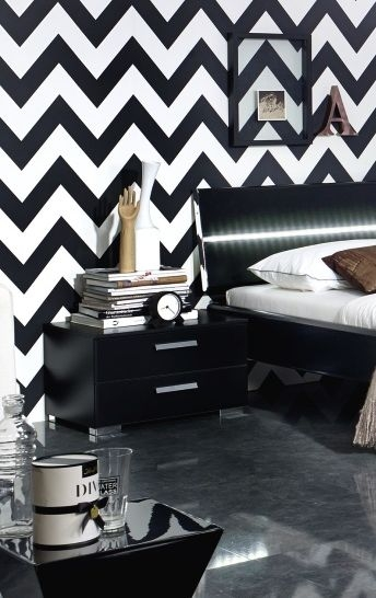 Rauch Mavi Base Black 2 Drawer Bedside Cabinet - W 40cm