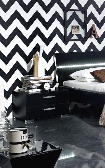 Rauch Mavi Base Black 2 Drawer Relax Bedside Cabinet - W 40cm