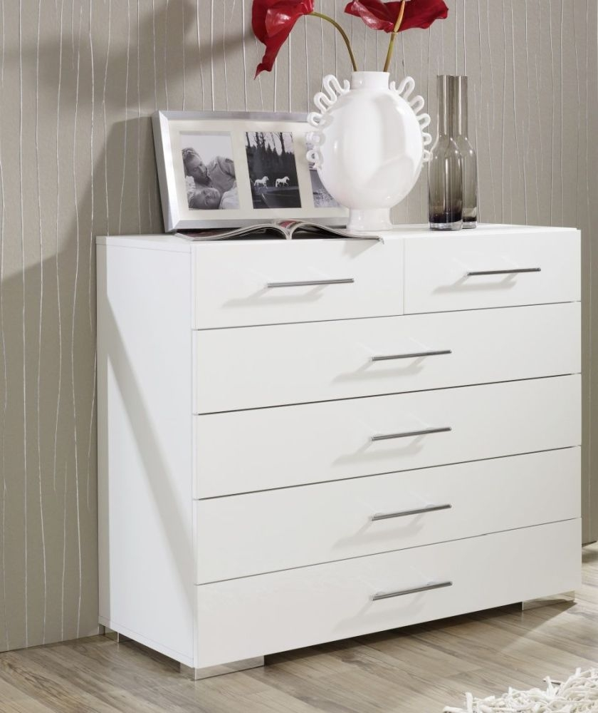 Rauch Mavi Plus 5 Drawer Chest in White - W 105cm