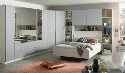 Rauch Memphis Overbed Unit Combination in White and Silk Grey
